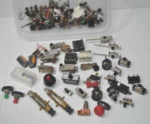 Huge Lot Of Vintage Switches Pushbutton Toggle Snap Switchcraft K3 Cherry