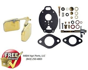 Carburetor Kit Carb Float Massey Ferguson Mf 65 165 175 180 3165 Tractor Tsx
