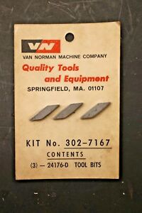 Van Norman 24176 D Carbide Cutting Bits For Drum Cutter Brake Lathe