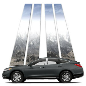 4p Stainless Pillar Post Covers Fits 2010 15 Honda Crosstour By Brighter Design