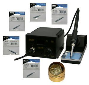 Digital Soldering Station Esd Safe 75w Ce Rated 907d Iron 5 Tips