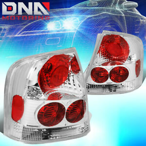 For 1999 2003 Mazda Protege Chrome Housing Altezza Style Tail Light Brake Lamps