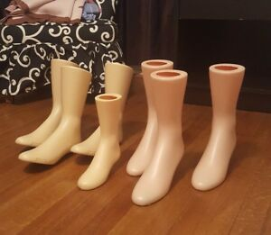 Foot Mannequin Shoe Boot Display Lot Vintage Stance Rpm Magnetic Weighted