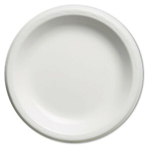 Elite Laminated Foam Plates 8 88 Inches White Round 125 pack 4 Pack carton