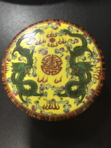 Beauty Chinese Antique Famille Rose Porcelain Dragon Box