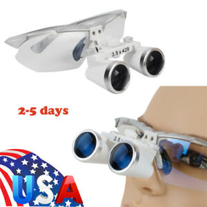 Us Optical Dental Dentist Surgical Binocular Magnifier Loupes glasses 3 5x 420mm