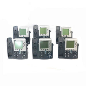 lot Of 6 Cisco 7961 Ip Business Conference Telephones 48 Vdc No Handsets