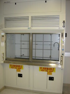 Chemical Fume Hood 6 Foot With Base Cabinets Fully Refurbished Certificate