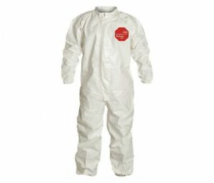Dupont Tyvek Tychem 4000 Sl125t Disposable Coverall Bunny Suit M White Case Of 6