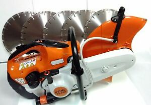 New Stihl Ts420 Cut off Saw Plus 5 14 Turbo Segmented Diamond Blades 12mm