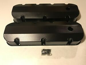Prw Fabricated Aluminum Valve Covers Big Block Chevy 396 502 Satin Black