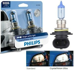 Philips Crystal Vision Ultra 9006 Hb4 55w Two Bulbs Head Light Upgrade Replace