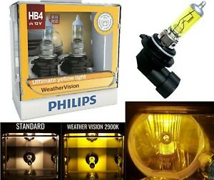 Philips Weather Vision Yellow 2900k 9006 Hb4 55w Two Bulbs Head Light Halogen Oe