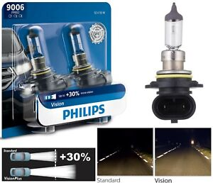 Philips Vision 30 9006 Hb4 55w Two Bulbs Head Light Upgrade Low Beam Lamp Oe