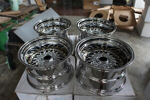 For Datsun Ae86 Miata Mx5 S30 Z31 Dr30 Jdm Chrome 15 Mesh Rs Style Wheels Rim