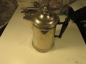 Vintage Rochester 6pt Coffee Warmer Or Tea Caraffe With Wooden Handle
