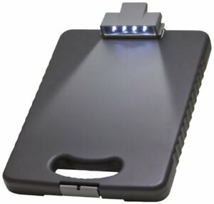 Tablet Case And Clipboard Document Storage W Led Light Letter a4 Size Charcoal