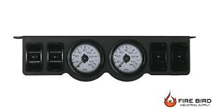 V Air Ride Suspension Two Dual Gauge Panel 200psi 4 Paddle Switch Control