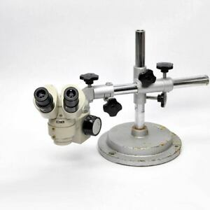 Nikon Sm 5 Stereo Microscope With Universal Table Stand 20x Vintage Stereoscopic