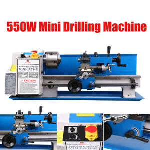 Precision Mini Metal Lathe Metalworking Diy Processing Variable Speed 7 x