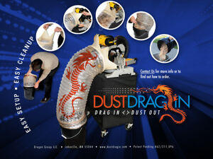 Dust Drag in Miter Saw chop Saw Dust Collection System