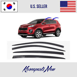 Smoke Door Window Vent Visor Deflector 4pcs 3m Tape For 2011 2016 Kia Sportage