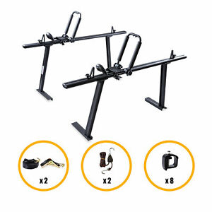 Pickup Truck Ladder Rack Aluminum W Folding Kayak Roof Rack Clamps And Straps