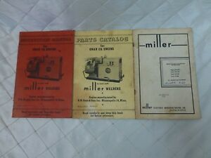 Miller Welders Operating And Maintenance Guides Onan Ck Engine Parts 3 Book Lot