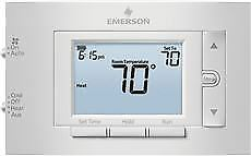 Emerson 80 Series Programmable Heat Pump 4 5 In Display 2 Heat 1 Cool Dual