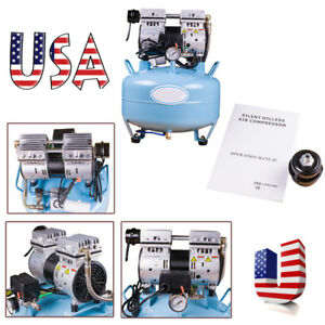 Portable Dental Noiseless Oilless Air Compressor Pressure Motor 3 4hp 550w 30l A