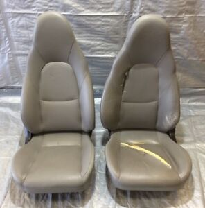 2003 Special Edition Mazda Miata Seats Pair Grey Leather Fits 1990 2005 Nb031