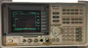 Hp Agilent 8593e Spectrum Analyzer 9khz 26 5 Ghz Options 004 021 027