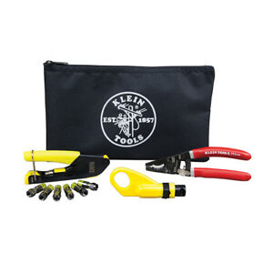 Klein Tools Vdv026 211 Coax Cable Installation Kit With Zipper Pouch