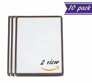 10 Pack Single Menu Covers Brown 8 5 X 11 inches Insert 2 View
