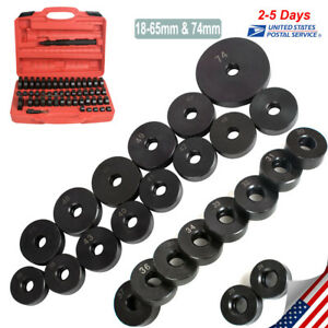 50pcs 18 65mm Bearing Seal Driver Kit Custom Bushing Bearing Hydraulic Press Set