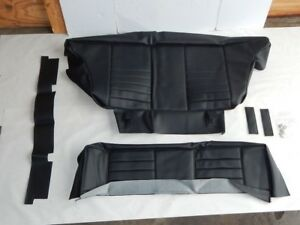 New Rear Seat Upholstery Set Seat Covers Mgb Gt 1965 72 Black Made In Uk