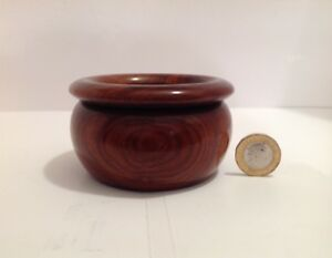 Vintage Well Figured Treen Bowl With Detachable Rim