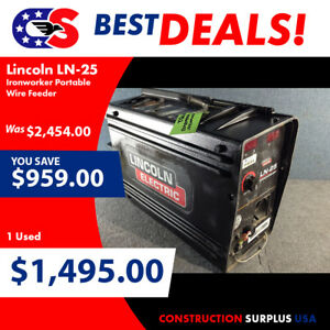 Lincoln Electric Ln 25 Ironworker Portable Wire Feeder 81078