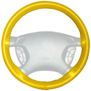 Wheelskins Yellow Genuine Leather Steering Wheel Cover For Audi
