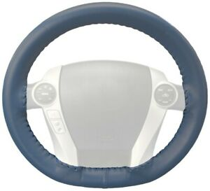 Wheelskins Sea Blue Genuine Leather Steering Wheel Cover For Audi size Ax