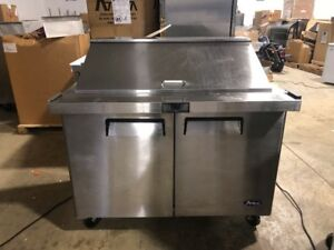 Atosa Msf8306 48 Used Commercial Megatop Sandwich Prep Table Sandwich Unit Cool