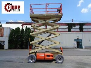 Jlg 3369le Electric Scissor Boom Man Aerial Telescopic Lift 33ft Height