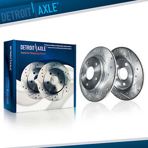 Rear Drilled Brake Rotors For 1999 2000 2001 2002 2003 2004 Jeep Grand Cherokee
