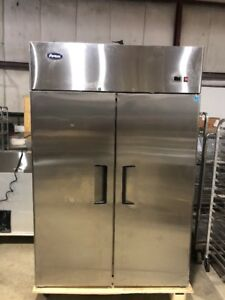 Atosa Mbf8002 Commercial 2 Door Reach In Freezer Stainless Used Freezer