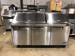 Atosa Msf8308 72 Commercial Mega Top Sandwich Prep Table Cooler Used
