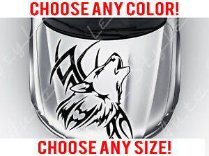 Howling Wolf Tribal Car Tattoo Hood Decal Vinyl Sticker Custom Any Size Color
