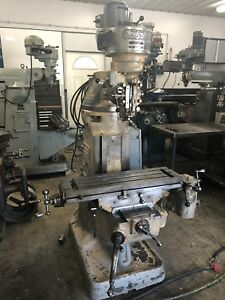 Bridgeport J Head Vertical Milling Machine step Pulley