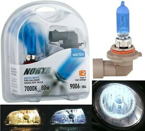 Nokya 7000k White 9006 Hb4 Nok7210 80w Two Bulbs Fog Light Lamp Replacement Fit