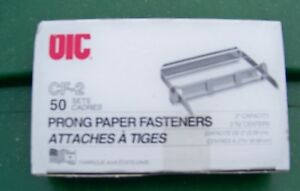 8 Boxes cf 2 Prong Paper File Fasteners 2 3 4 Center 2 Capacity Steel 50 box