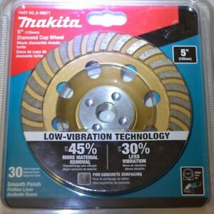 5 In Turbo Low vibration Diamond Cup Wheel Compatible With Angle Grinders